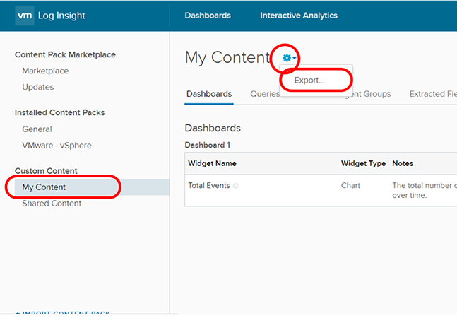 How to Create a vRealize Log Insight Content Pack