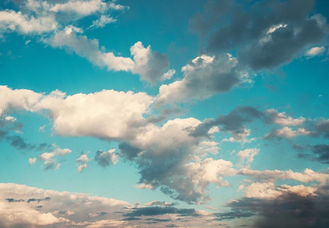 Blue Blue Sky and Clouds Graphic