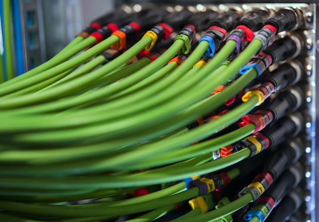 Green Server Wires Graphic