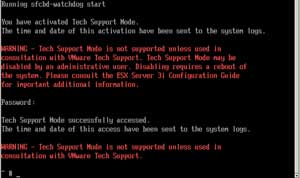 ESXi in Tech Support Mode