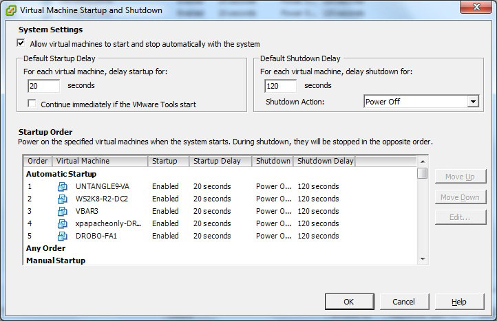 How To Set vSphere VMs To Power Up Automatically -- Virtualization