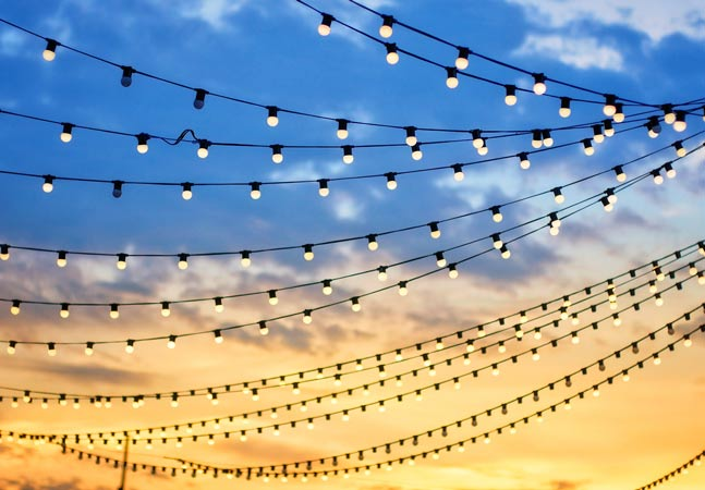 Party Lights in Sky