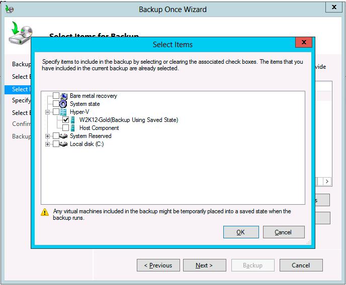 How To Back Up Hyper-V VMs Natively in Windows Server 2012