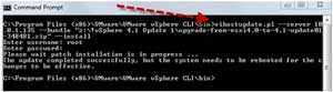 upgrade via update 1 on an ESXi 4.1 host using vCLI and the ZIP version of the update 1 install