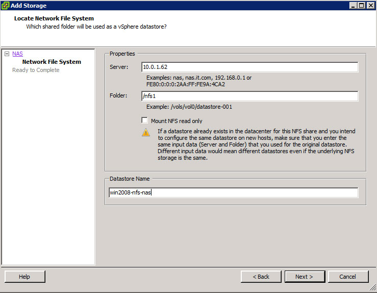 How To Use Windows 2008 Services for NFS for Your vSphere
