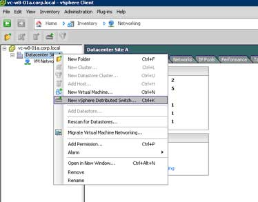Click on create VDS button to configure a new VDS.