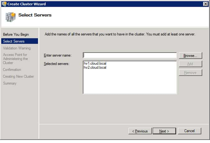 Setting up a cluster in Windows Server 2008/2008 R2 is much easier than in earlier versions.