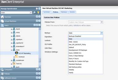 changing policies for groups of vms