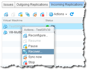 vSphere Replication allows for policy-driven protection of a VM, as the configuration of a VM's replication is attached as a property of the of the VM itself.
