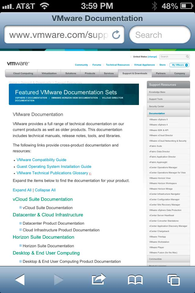 VMware Documentation Home