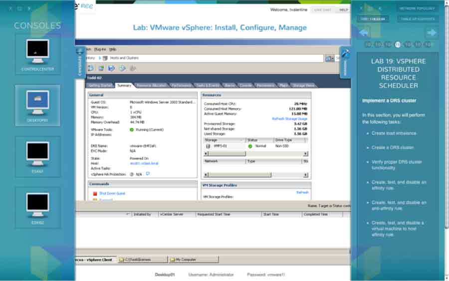 A look at VMware's Hands-On Lab environment.