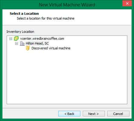 create new vms in vsphere workstation