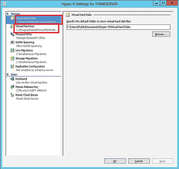 Change Hyper-V Path for VMs, Configuration -- Virtualization Review