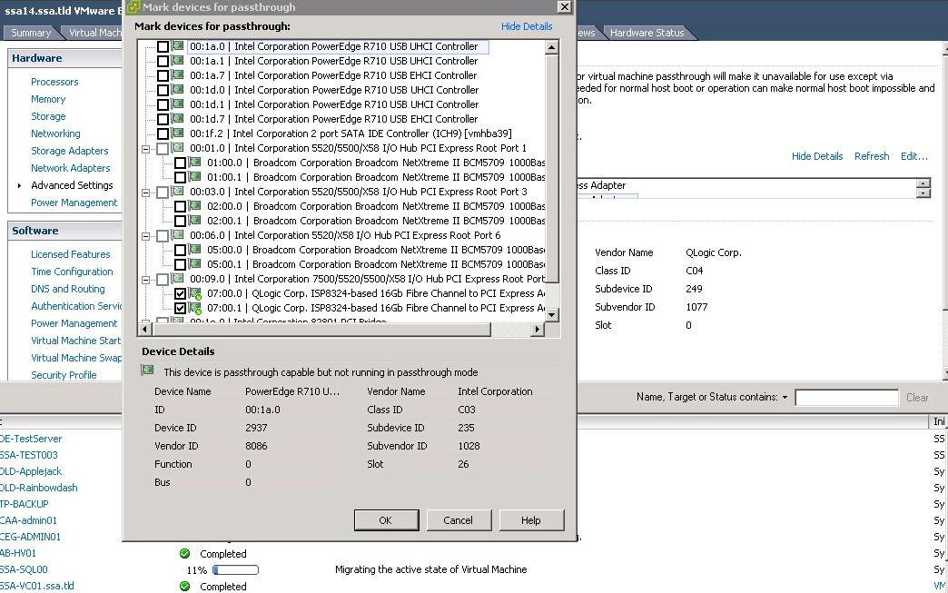How To Configure VMDirectPath HBA in vSphere -- Virtualization Review