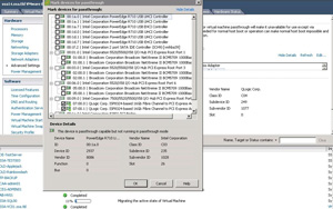 Every available device has its own PCI identification in the vSphere Client.