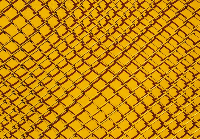 Yellow Wire Fence Graphic
