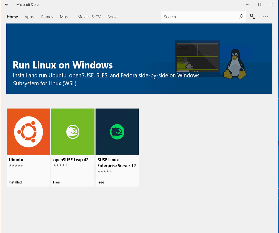 Hands-On with WSL: Installing Other Linux Distros