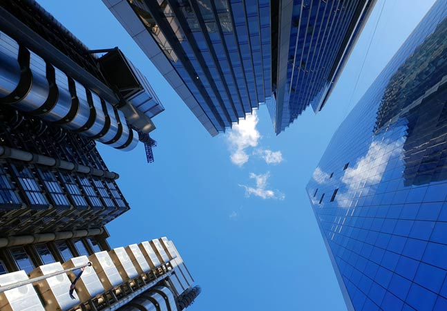 Buildings Upward View Graphic