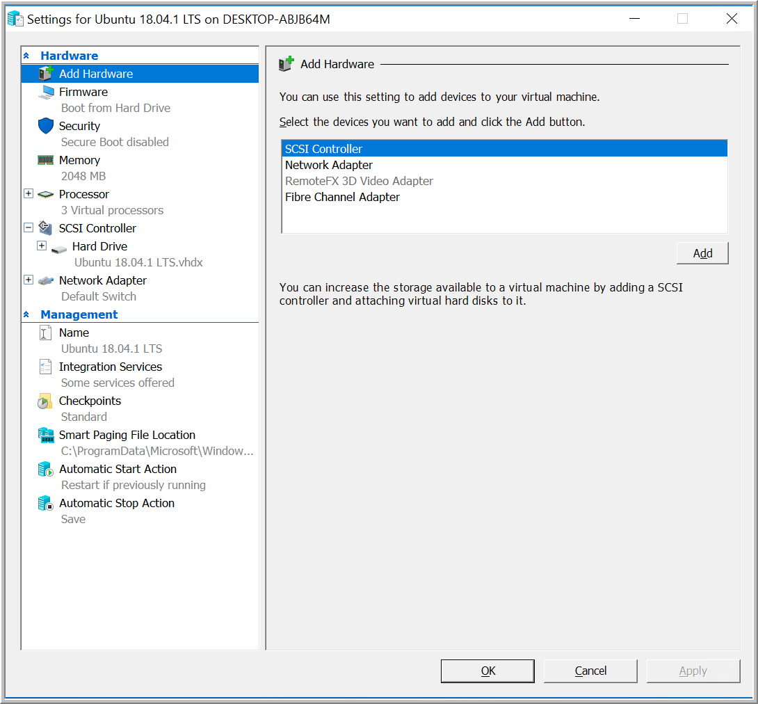 Installing Ubuntu Using Hyper-V Quick Create