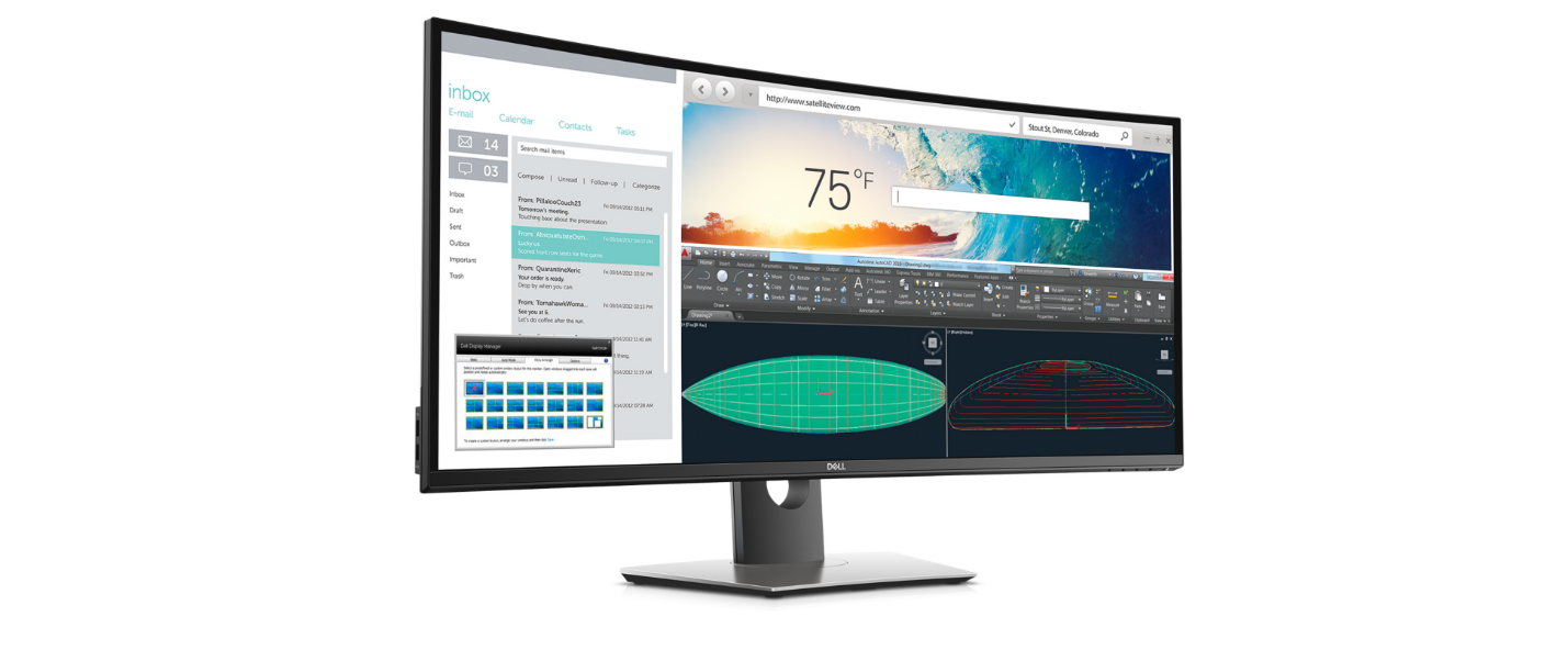 The Dell U3818DW Monitor with Built-in KVM Switch