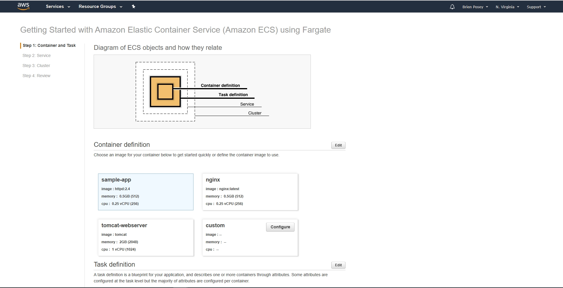 Create Serverless Containers in AWS -- Virtualization Review