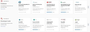 Some Database and Developer Tools Offerings in the Red Hat Marketplace