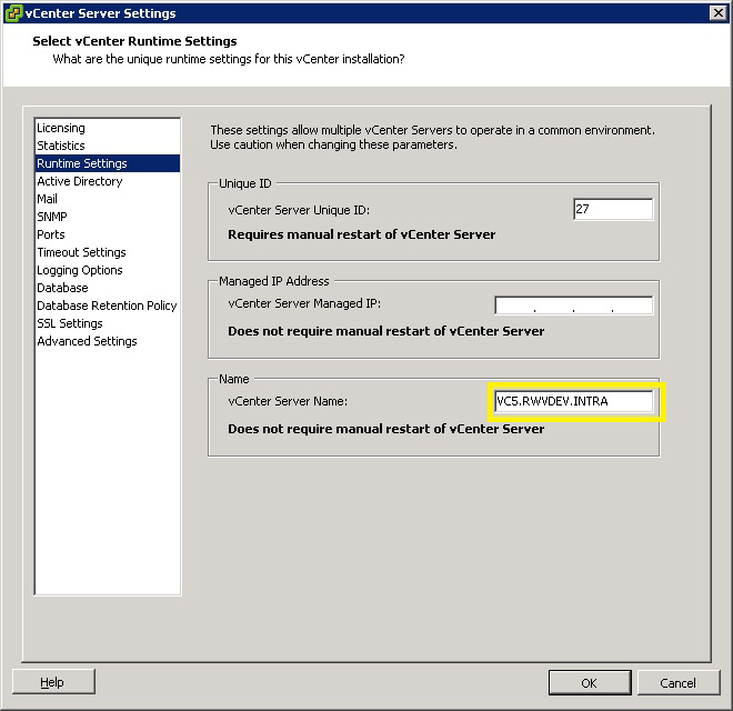 Changing the Name of the vCenter Server -- Virtualization Review
